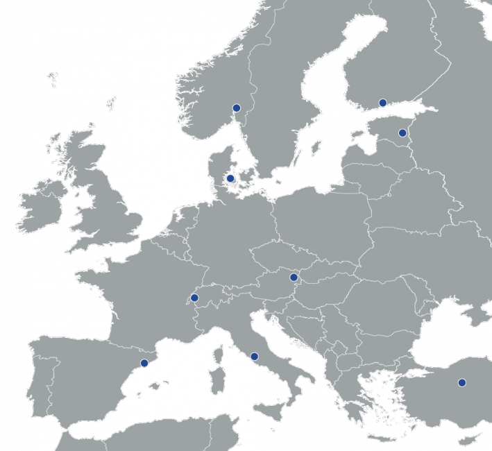 Project Partners' Map